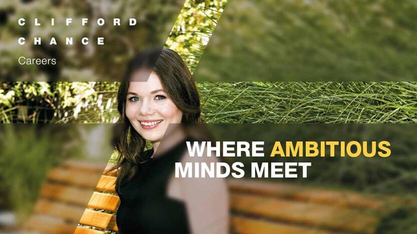 Where ambitious minds meet [Quelle: Clifford Chance]