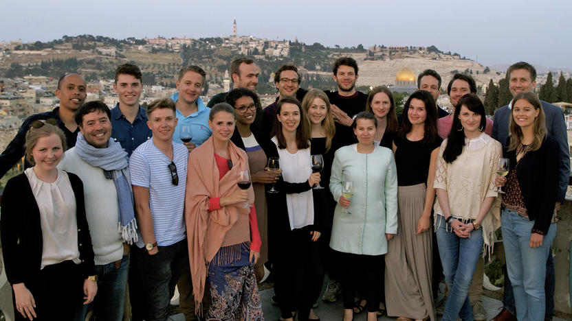 Trainees bei ihrer Israel-Reise [Quelle: Axel Springer]