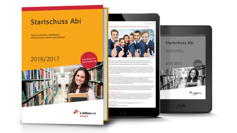 Startschuss Abi Buch Cover 2016/2017 (Quelle: e-fellows.net)