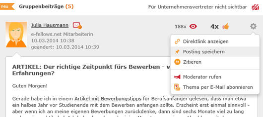 Neues Dropdown in Gruppen (Quelle: sxc.hu)